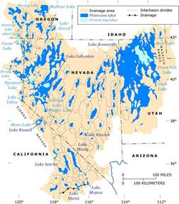 Image result for pleistocene lakes great basin